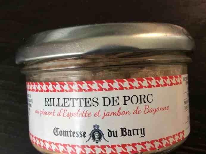 Les Rillettes de Porc au Piment d'Espelette et au Jambon de Bayonne Comtesse du Barry