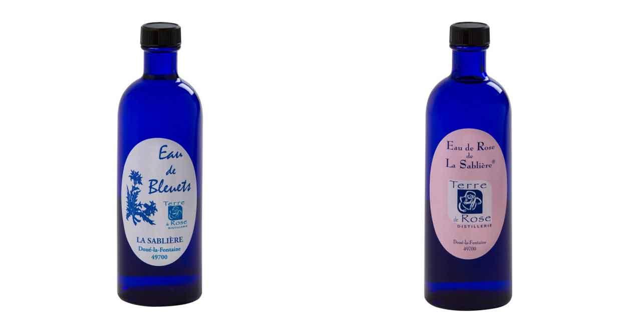 L'eau de rose et l'eau de bleuet de Terre de Rose
