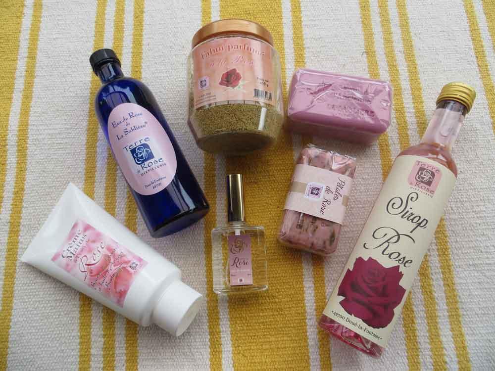 Les produits Terre de Rose à Doué la Fontaine