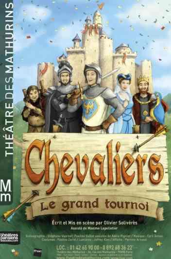 Chevaliers écrit et mis en scène par Olivier Solivérès au Théâtre des Mathurins (Paris)