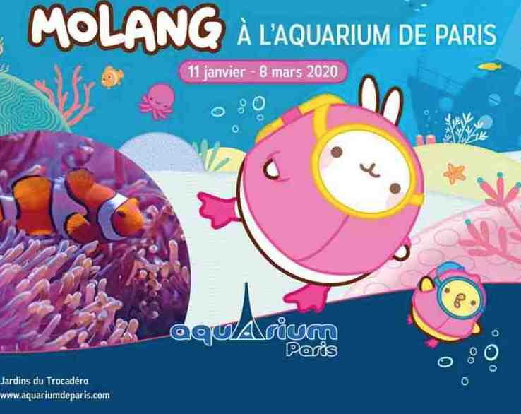 Molang à l'Aquarium de Paris