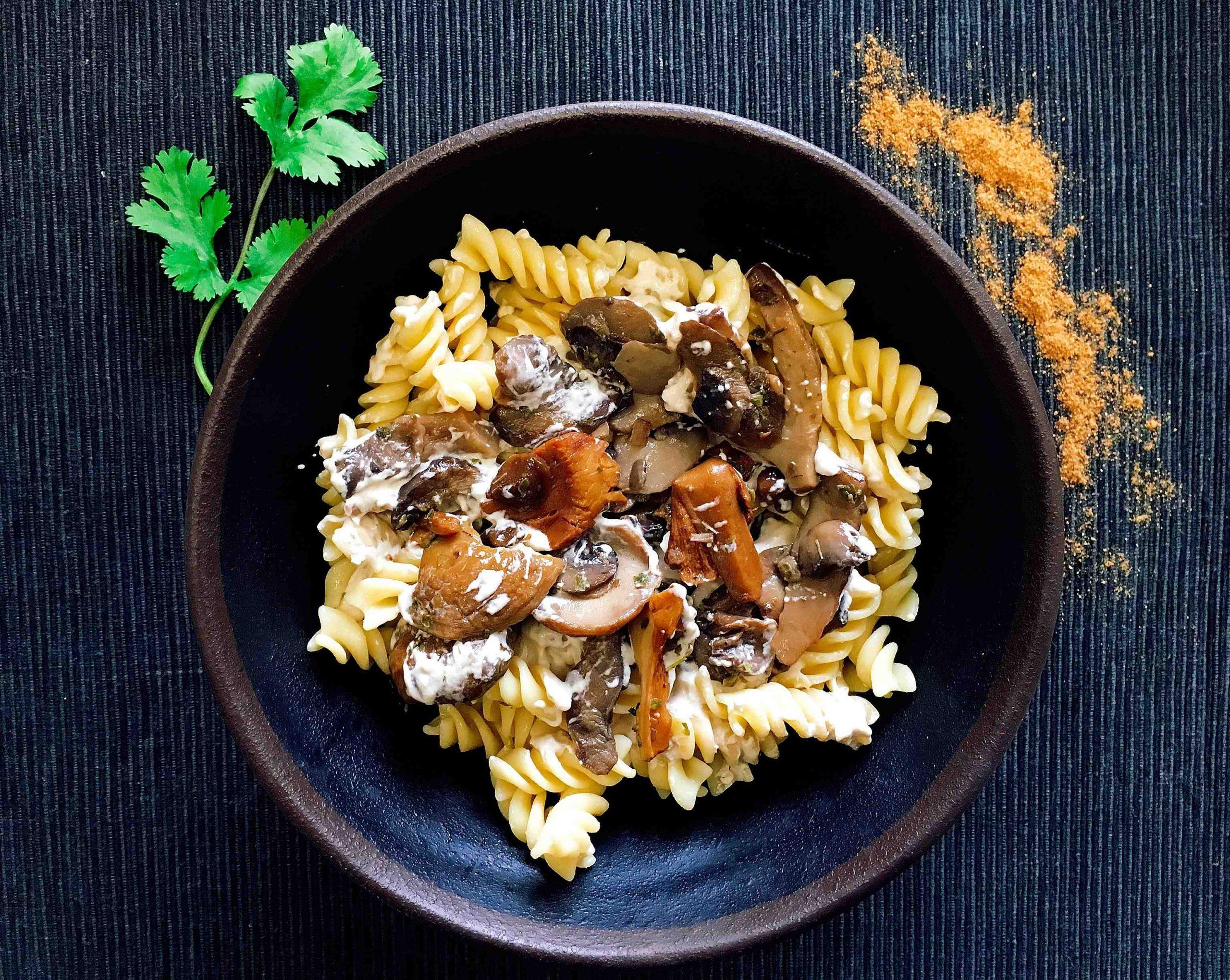 Recette I-Lunch : Fusillis Champignons pour 4