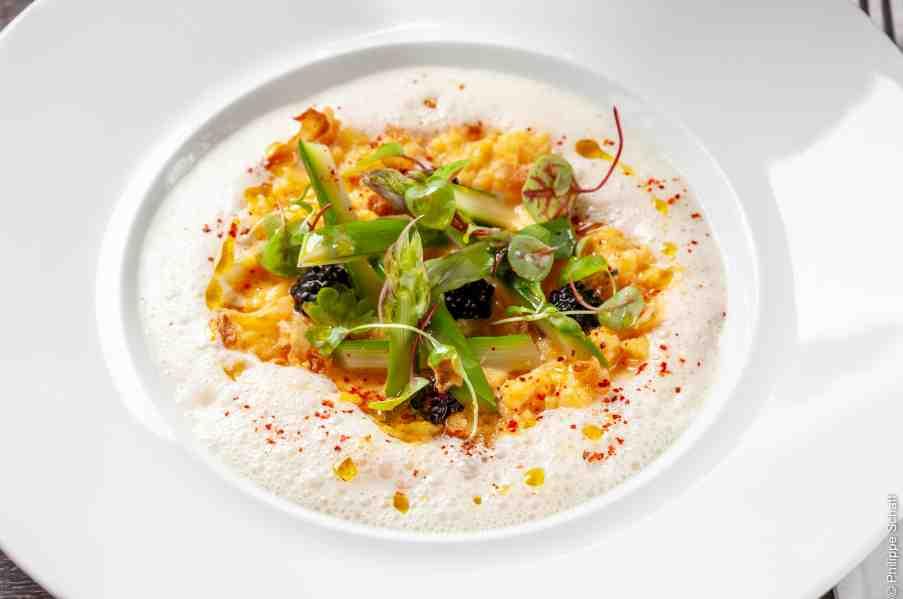 La recette des œufs brouillés pour 2 personnes du Chef Gilbert Benhouda – restaurant Sapristi – Rueil-Malmaison