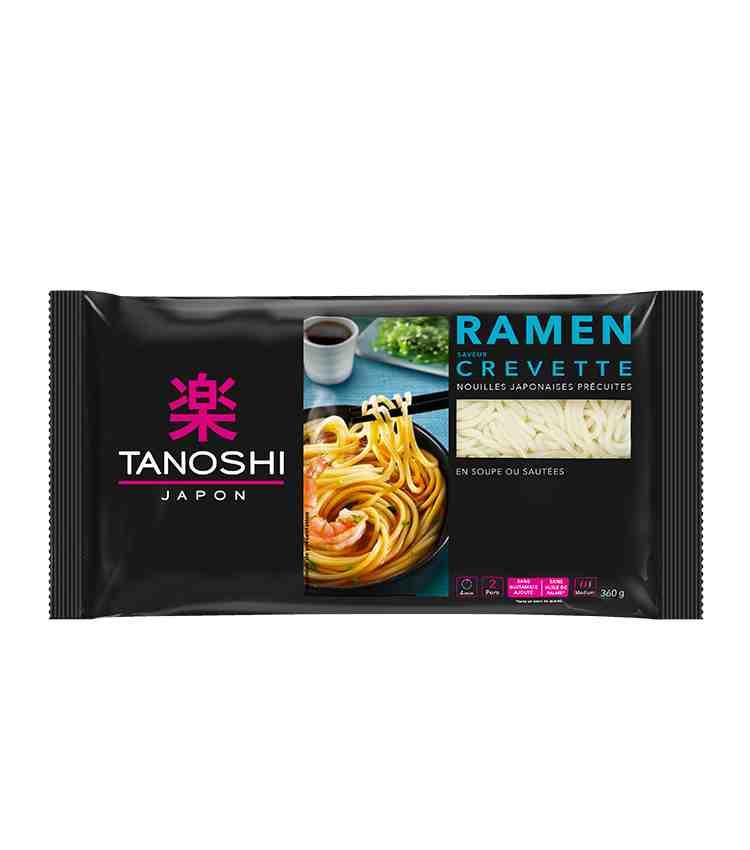 Les ramen de Tanoshi, saveur crevettes