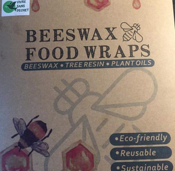 Emballage alimentaire réutilisable Beeswax Wrap de cire d'abeilles