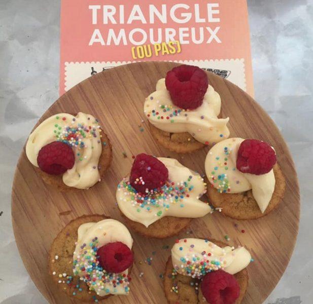 Les Red Velvet Cupcakes du roman le triangle amoureux édité chez Lumen Éditions
