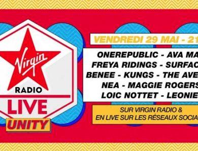Virgin Radio Live Unity en live vidéo sur les réseaux sociaux à 21h le 29 mai 2020