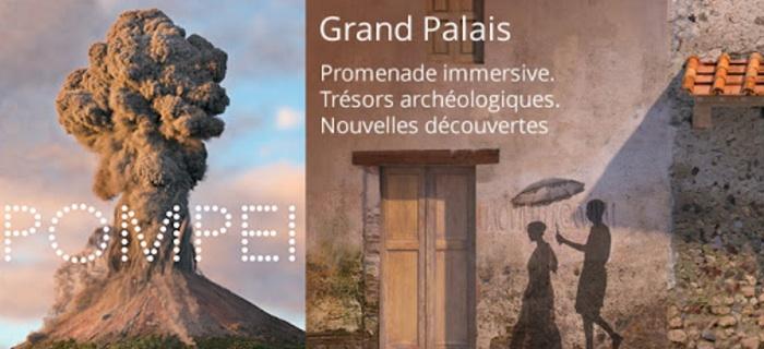 Pompéï. Promenade immersive. Trésors archéologiques. Nouvelles découvertes au Grand Palais à Paris