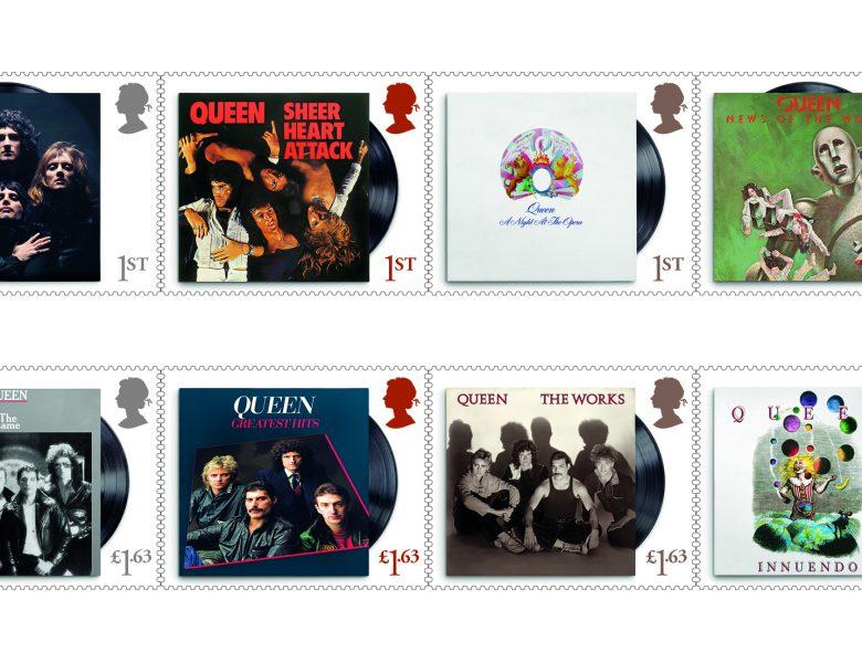 Queen honorée d'une collection officielle de timbres Britanniques