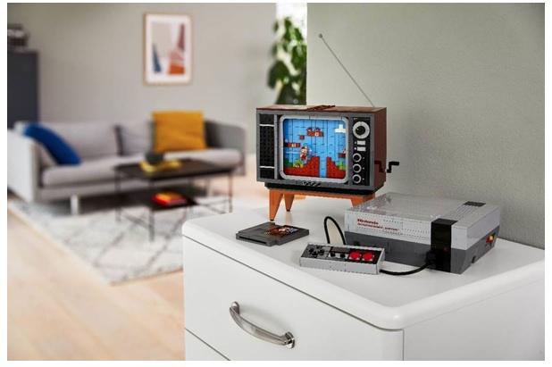 LEGO et Nintendo ont conçu un poste de TV spécial Mario