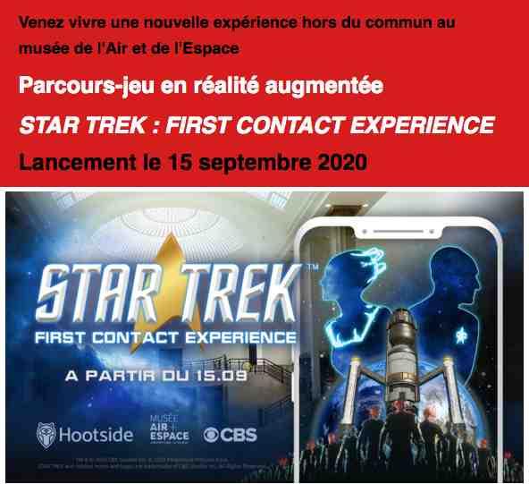 Le jeu en réalité augmentée Star Trek au Musée de l'Air et de l'Espace (La Bourget)