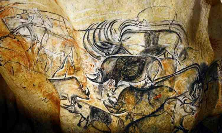 Caverne du Pont d'Arc (reconstitution de la Grotte Chauvet) dans l'Ardèche
