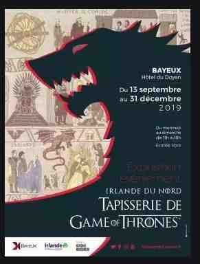 La tapisserie Game of Thrones® exposée à Bayeux