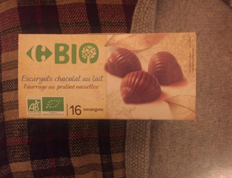 Escargots en chocolat au lait bio Carrefour