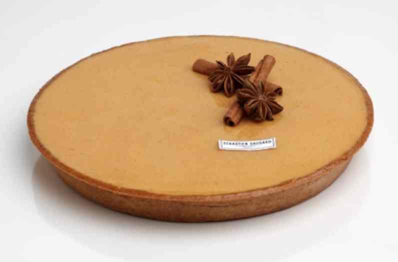 La tarte au potimarron du chef Sébastien Gaudard, disponible en boutique à Paris