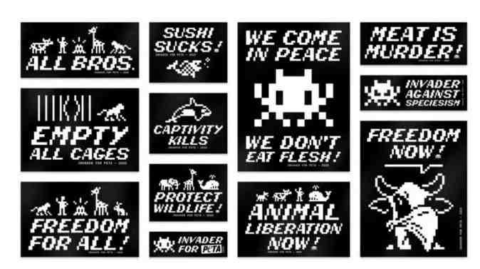 Invader s'associe à PETA dans une collaboration antispéciste