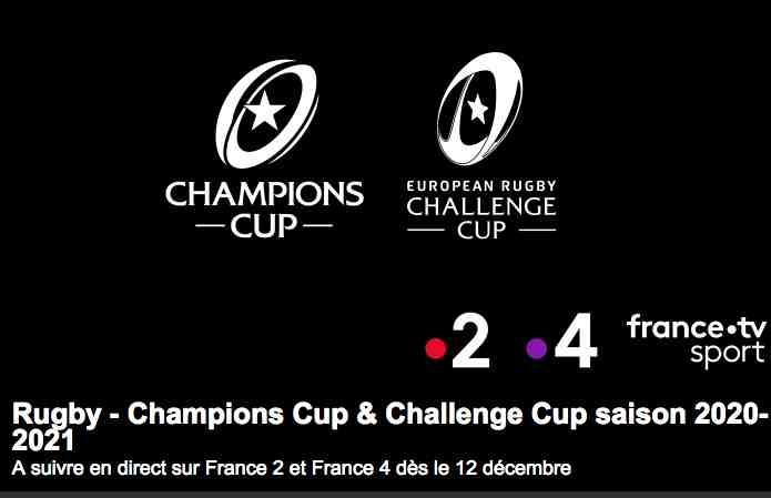 Le rugby s'installe sur France Télévisions : Champions Cup & Challenge Cup à suivre en direct sur France 2 et France 4