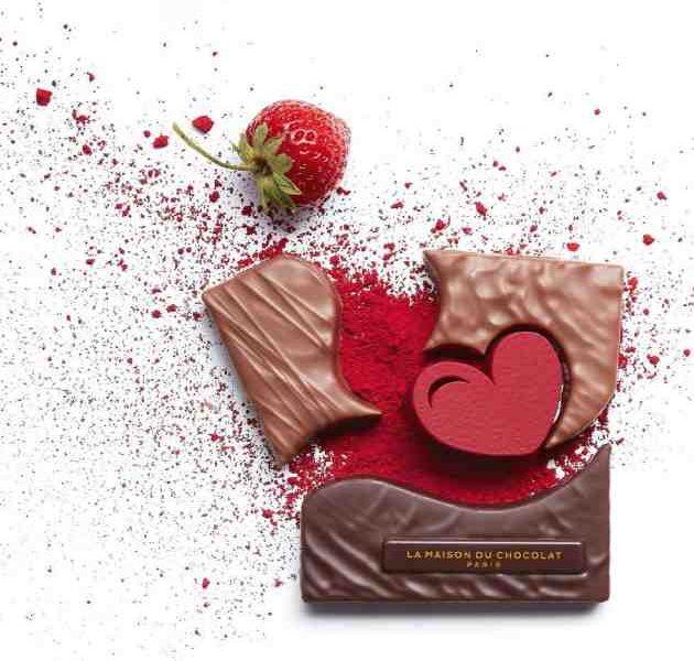 La Bouchée Coeur Empreinte de la Maison du Chocolat pour la Saint-Valentin 2021