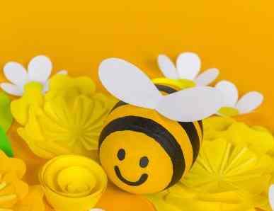 Comment réaliser une abeille à partir d'un oeuf