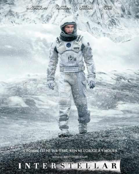 Interstellar réalisé par Christopher Nolan