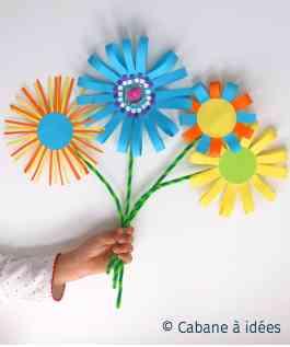 Un bouquet de fleurs en papier à fabriquer