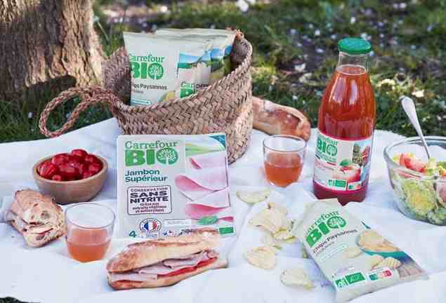 Des produits Carrefour Bio pour se régaler avec un bon pique-nique certifié Bio et Français