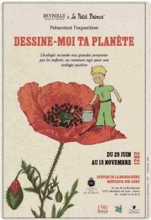 Dessine-moi ta planète, une exposition à l'occasion des 75 ans du Petit Prince au Château de la Bourdasière, en Indre-et-Loire (Touraine)