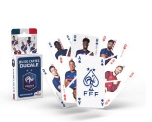 Jeu de 54 cartes illustrées avec les photos des joueurs de l'équipe de France de Football 2020