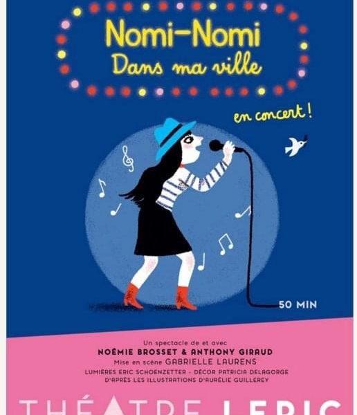 Venez découvrir Nomi-Nomi sur scène avec le spectacle Dans Ma Ville au Théâtre Lepic à Paris